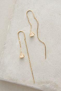 Pearblossom Threaded Earrings #anthropologie