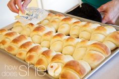 """This is now my """"go to"""" recipe for dinner rolls. I was in charge of bread for Thanksgiving and there was only 2 left. I also made them for a teacher luncheon at my child's school...they were devoured. Love, love, love these. They are truly at their best when they are served straight from the oven."""