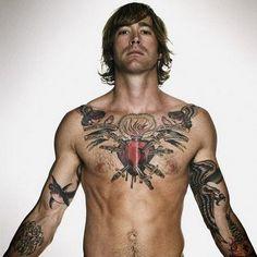 heart + swords + eagle + shark #chest #arms #tattoos