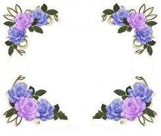 Free Frames and borders png flower border design png 360