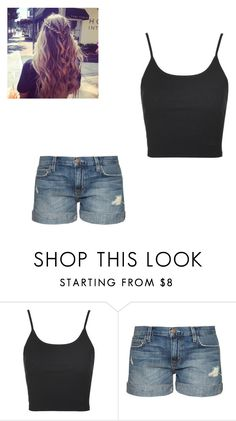 """First Kiss with Robbie"" by maryvarleyrox ❤ liked on Polyvore featuring Topshop and Current/Elliott"