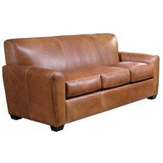 Omnia Furniture Jackson Leather Sleeper Sofa | Wayfair Supply