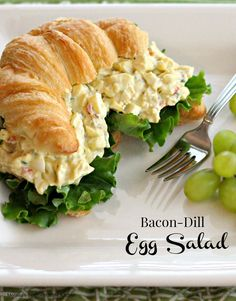 Egg salad crostini recipe food network foodnetwork 4th bacon dill egg salad with pimentos forumfinder Image collections