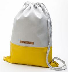 Turnbeutel / Gymbag Fenno grey / yellow