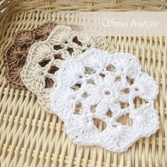 Crochet flower appliques Wedding Decoration by MSweetboutique, $12.50