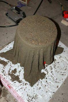 Mit Beton und einem Handtuch eine Deko gestalten