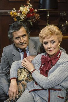 John Aniston and Peggy McCay...Caroline Brady and Victor Kiriakis  -  NBC'c Days of Our Lives