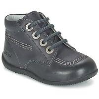 Buty Dziecko Buty Za Kostke Kickers Billy Czarny Hiking Boots Shoes Boots