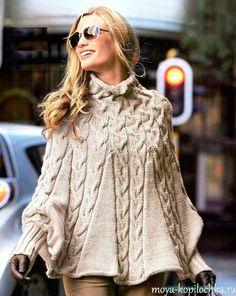 Bellas agujas de tejer poncho - Crochet - Mi kopilochku