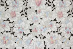 1900s Vintage Antique Wallpaper Pink Blue White Flowers on