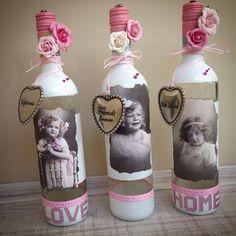 Wine Bottle Art, Glass Bottle Crafts, Lighted Wine Bottles, Diy Bottle, Yarn Bottles, Christening Balloons, Wine Craft, Diy Crafts For Home Decor, Vide Poche