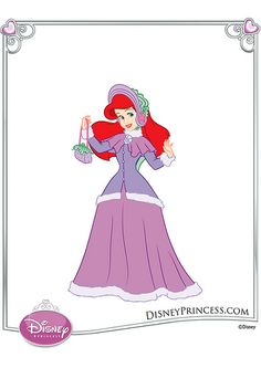 Ariel Dress Up Dolls | Overdressed much? Disney Princess Fashion, Disney Style, Princess Pictures, Princess Pics, Purple Pink Color, Ariel Dress, Princess Dress Up, Dress Up Dolls, Ariel The Little Mermaid