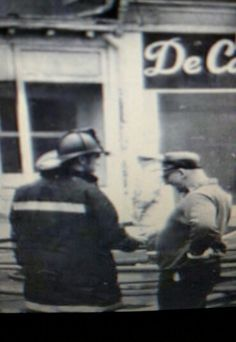 My Dad Gene Whitaker on the right . a friend to all our hometown firefighters