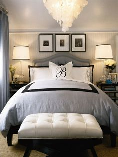 Small Bedroom Makeover Ideas: Small Master Bedroom Makeover Ideas On A Budget Small Master Bedroom, Dream Bedroom, Home Bedroom, Master Bedrooms, Pretty Bedroom, Bedroom Furniture, Bedroom Romantic, Bedroom Black, Bedroom Simple