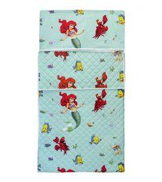 Sacco nanna trapuntato, per bambine, Fantasia Sirenetta Disney, con tasca per cuscino. E' possibile scegliere la cerniera laterale o la chiusura in velcro che chiude il sacco a pelo, parzialmente. Lo trovi qui: http://www.coccobaby.com/prodotto/set-asilo/sacchi-a-pelo/1505/sacco-a-pelo-asilo,-sirenetta-disney