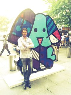 In NYC , A little something from one of my favorite artists @brittopopart     What a HUNK!!!  JOHNATHAN not the art.