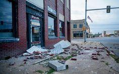 Earthquake Damage In Downtown Cushing Oklahoma November 2016 Sierra Club