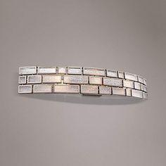 "Varaluz Harlowe New Bronze 33 1/4""W Ice Glass Bath Light - #8M523   Lamps Plus"