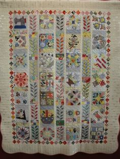 A different type of sampler - beautiful! This makes me wish I had time to do this again - and had younger eyes