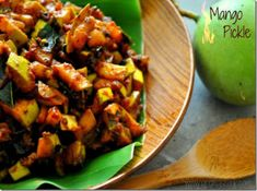 Instant Mango Pickle Recipe- How to make spicy Kerala Style Mango pickle - Instant Mango Pickle Recipe- How to make spicy Kerala Style Mango pickle - # Indian Pickle Recipe, Pickle Mango Recipe, Crispy Pickles Recipe, Baked Pickles, Pickled Mango, Mango Recipes, Kerala, Cucumber, Spicy