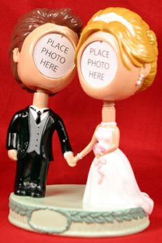 Bride and Groom Bobblehead  ahahahahaha!