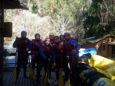 Rufting en Cascada de las Animas. Cajón del Maipo
