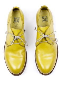 MOMA 33506 yellow oxford for Women. Handmade in Italy.