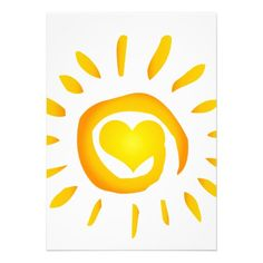 12887 BRIGHT YELLOW HEART SUNSHINE SURF SWIRL SYMB