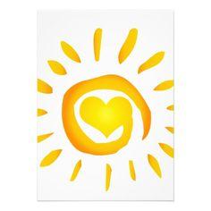 12887 BRIGHT YELLOW HEART SUNSHINE SURF SWIRL SYMB