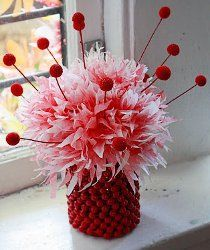 Shirley Temple Coffee Filter Flowers | AllFreeHolidayCrafts.com