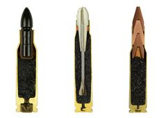 long sliced bullet : Photographed from with an old World War II bunker in Switzerland, creative photographer Sabine Pearlman has managed to capture the 'anatomy of a sliced bullet'. #BULLETS #WAR #METAL #GUNS #AMMO