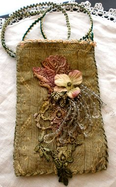 Beaded pouch.