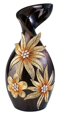 OK Lighting Golden Art Demeter Decorative Vase 155 ** Click image for more details. (Note:Amazon affiliate link)