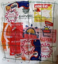 my artwork - aqua vitae: 6mei17 Collage:Fused plastic bags from Estonia [2...