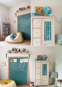 Love the idea of replacing glass with decorative fabric in furniture units.