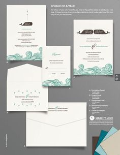 """""""Whale of a Tale"""" Wedding Invitation From Envelopments"""