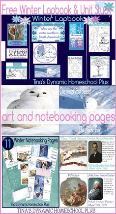 Free Winter Unit Study and Lapbook for homeschooled kids. Activities for Middle School too @ Tina's Dynamic Homeschool Plus
