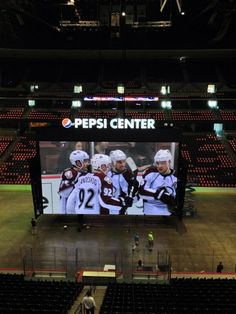 The new Pepsi Center scoreboard looks amazing! Pepsi Center, Arizona Coyotes, Season Ticket, Denver Nuggets, Colorado Avalanche, Hockey, Entertainment, Game, City