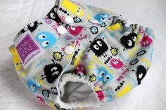 Moms in the House One-Size PUL Pocket Diaper - Inverted Ooga Booga - $17.50