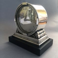 Gallery 925 - Georg Jensen Clock No 596 by Johan Rohde, Very rare, Handmade Sterling Silver