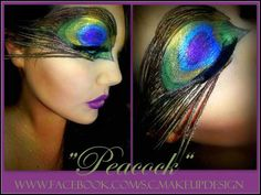 Awesome Peacock make up