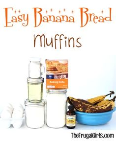 Easy Banana Bread Muffins Recipe! ~ from TheFrugalGirls.com ~ these delicious moist muffins are the perfect breakfast or brunch treat! #muffin #recipes #thefrugalgirls