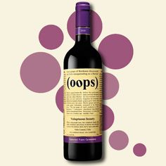 Fun Wine Labels – Oops