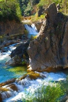 The Infinite Gallery : Ruta Del Borosa, Spain Beautiful Waterfalls, Beautiful Landscapes, Places To Travel, Places To See, Places Around The World, Around The Worlds, Beautiful World, Beautiful Places, Spain And Portugal
