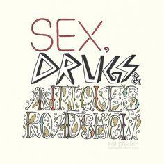 Sex, drugs, & antiques roadshow-illustration by Kat Preston