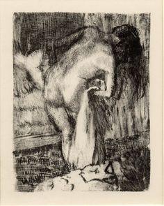 Image gallery: Après le bain (After the bath). Degas