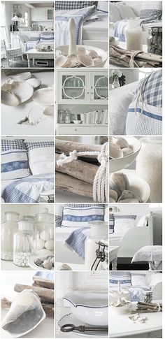 When you LOVE Blue and White:  style board for a beach house.