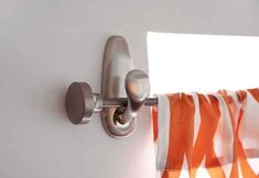 If you need an easy way to hang a curtain rod, use Command hooks.