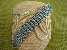 Blue and pink Rhythmic Waters 61/2 inch by CreationsByCary on Etsy, $40.00