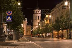 Gediminas avenue, Vilnius, Lithuania